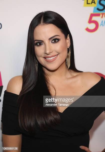 Catalina Mora arrives at Suelta La Sopa's 5th Anniversary Red Carpet at Telemundo Center on November 19 2018 in Miami Florida