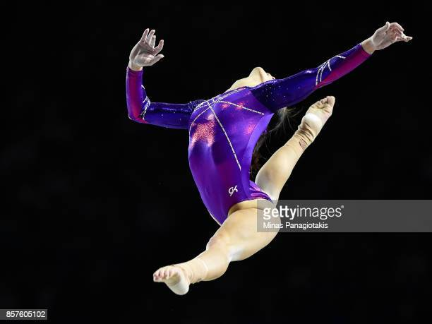 Catalina Ponor of Romania competes on the balance beam during the qualification round of the Artistic Gymnastics World Championships on October 4...