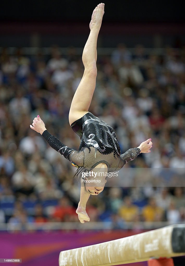Catalina Ponor of Romania competes on the beam during the Artistic Gymnastics Women's Beam final on Day 11 of the London 2012 Olympic Games at North Greenwich Arena on August 7, 2012 in London, England.