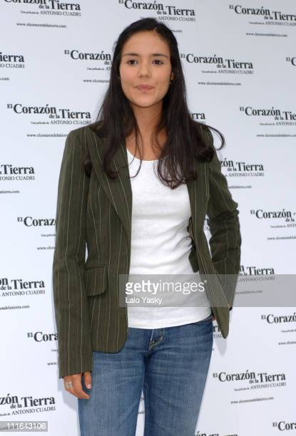 Catalina Sandino Moreno during El Corazon de la Tierra Press Conference and Photocall at Ritz Hotel in Madrid Spain