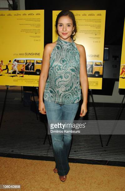 """Catalina Sandino Moreno during """"Little Miss Sunshine"""" New York City Premiere - Inside Arrivals at AMC Loews Lincoln Square in New York City, New..."""