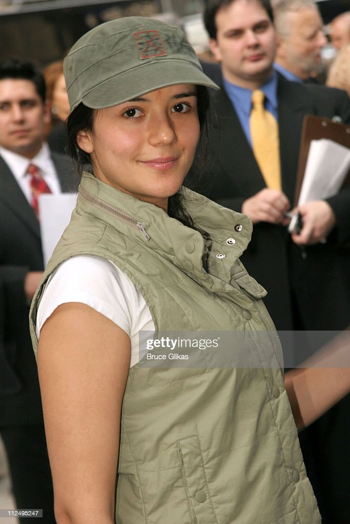 Catalina Sandino Moreno during Opening Night of Martin McDonagh's 'The Pillowman' on Broadway - Arrivals at The Booth Theater in New York City, NY, United States.