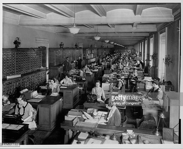 Catalogers Working at the Library of Congress