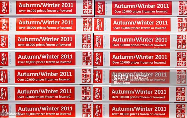 Catalogues sit on display inside an Argos store operated by Home Retail Group Plc in Enfield UK on Wednesday Sept 7 2011 Home Retail Group Plc owner...