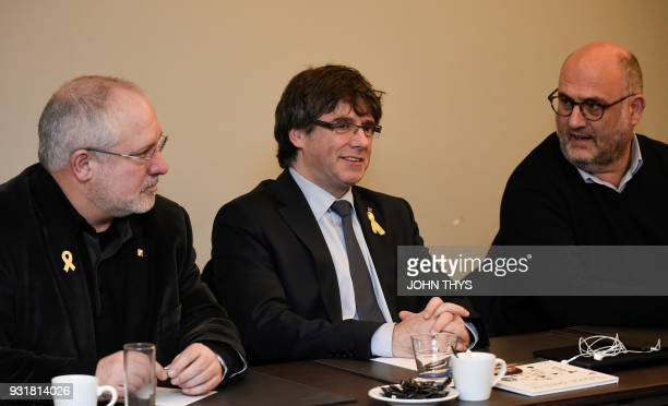 Catalonia's ousted Minister of Culture Llus Puig i Gordi Catalonia's ousted regional president Carles Puigdemont and spokesperson of separatist party...