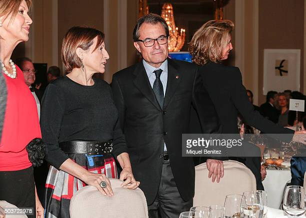 Catalonia's Parliament President Carme Forcadell and Catalonian Regional Government President Artur Mas attend the 72th Nadal Literature Awards at...