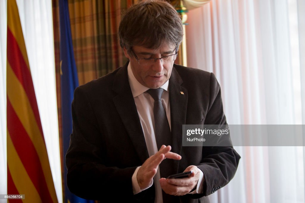 Catalonia's exiled president Carles Puigdemont in an interview in Brussels