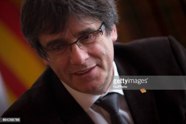 Catalonia's president in exile Carles Puigdemont in an interview in Brussels Belgium on December 15 2017