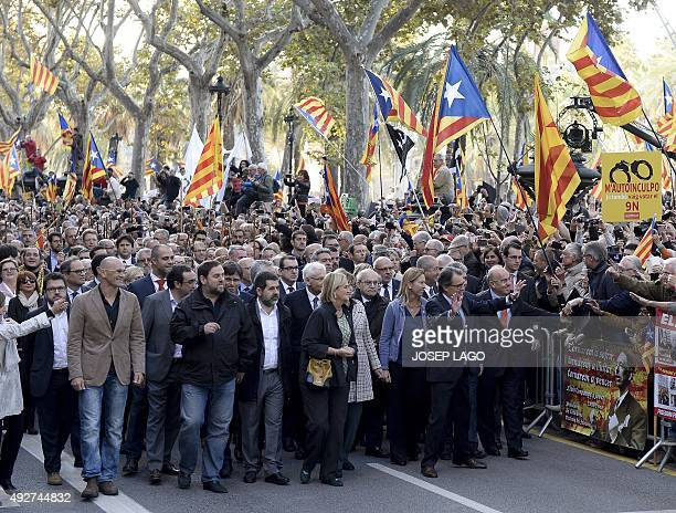 Catalonia's regional government president and leader of the Catalan Democratic Convergence party Artur Mas Leader of the Catalan independence...