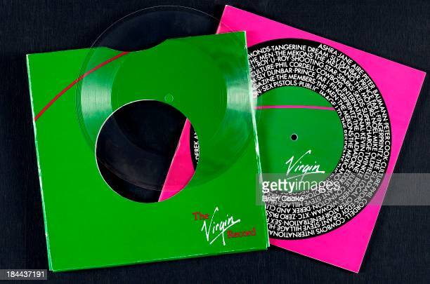 Catalouge for Virgin Records published in 1979 featuring the new Virgin 'scrawl' logo Design by Cooke Key Associates