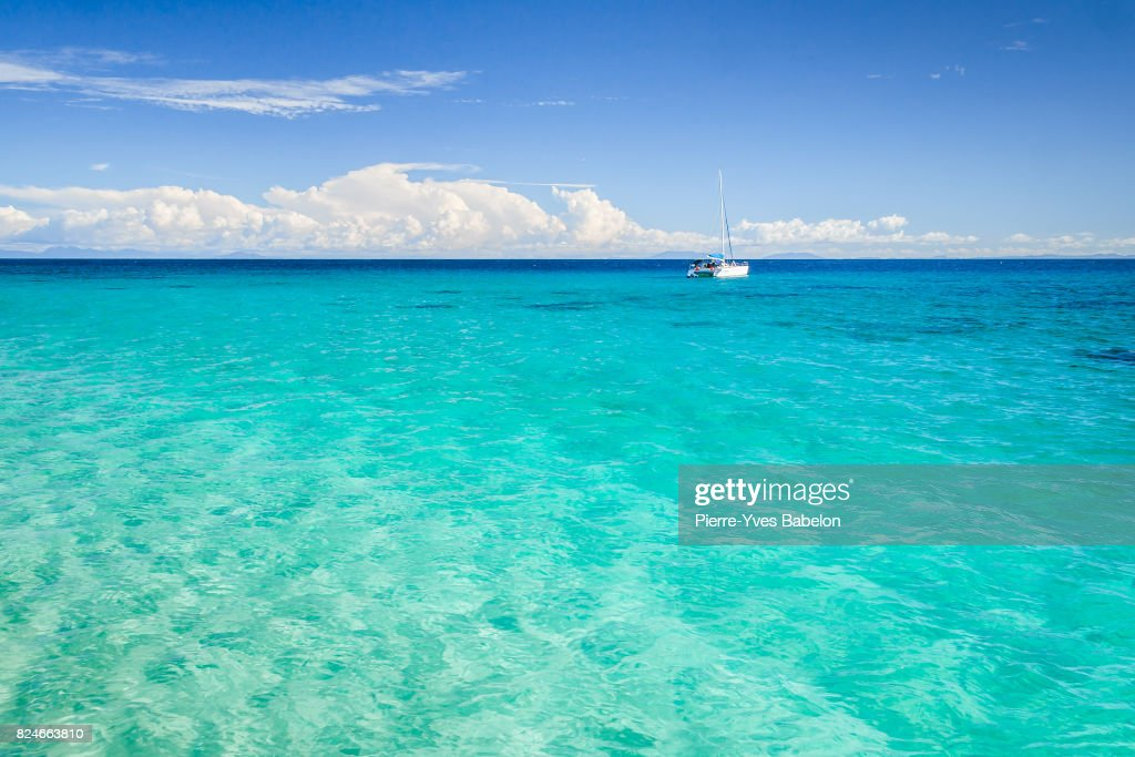 Catamaran anchored : Stock Photo