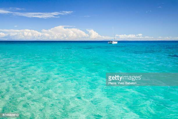 catamaran anchored - catamaran stock photos and pictures