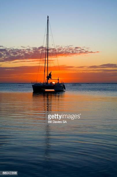Catamaran Mauritius Sunset