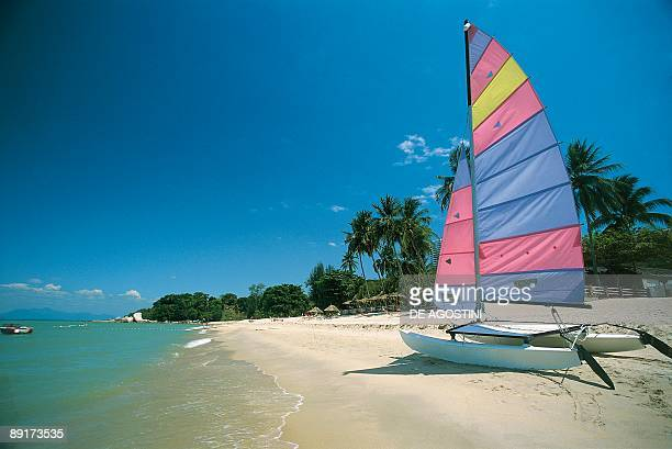 Catamaran on the beach George Town Penang Malaysia