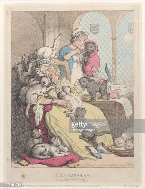 A Catamaran or an Old Maid's Nursery March 1 1803 Artist Thomas Rowlandson