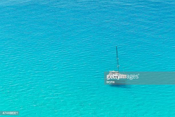 catamaran sailing - catamaran sailing stock photos and pictures