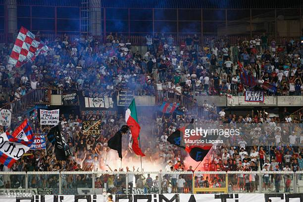 Catania fans during the Serie A match between Calcio Catania and Genoa CFC at Stadio Angelo Massimino on September 2 2012 in Catania Italy