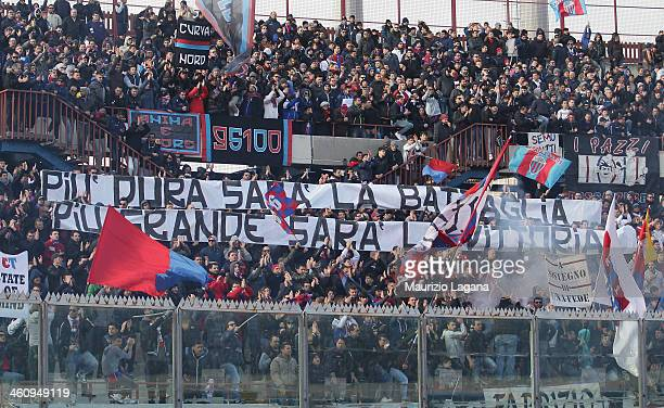 Catania fans during the Serie A match between Calcio Catania and Bologna FC at Stadio Angelo Massimino on January 6, 2014 in Catania, Italy.