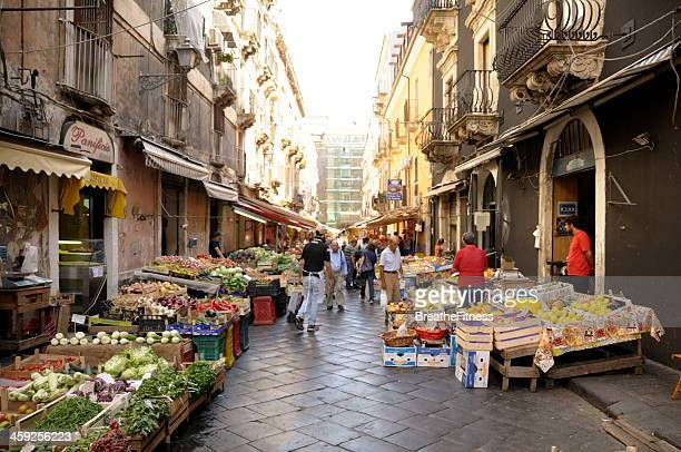 catania market - catania stock photos and pictures