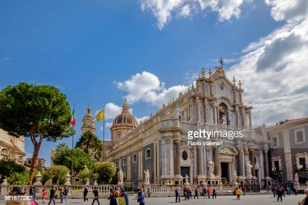 catania, saint agatha cathedral - sicily, italy - catania stock photos and pictures
