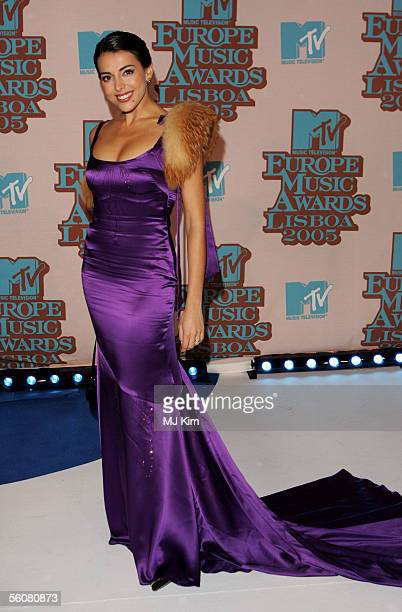 Catarina Fortado arrives at the 12th annual MTV Europe Music Awards 2005 at the Atlantic Pavilion on November 3 2005 in Lisbon Portugal
