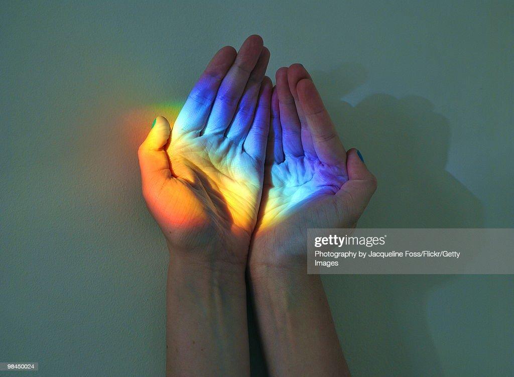 Catch a rainbow : Stock Photo