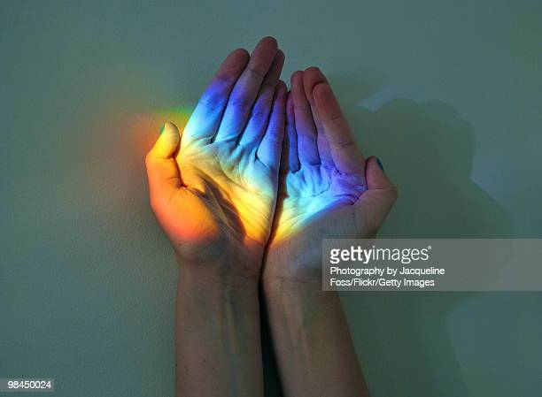 catch a rainbow - rainbow stock pictures, royalty-free photos & images