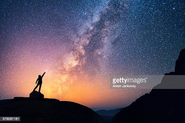 catch the star - milky way stock pictures, royalty-free photos & images