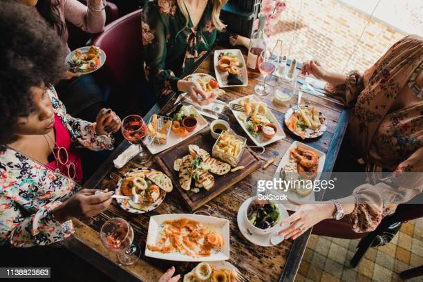 catch up over lunch - savoury food stock photos and pictures