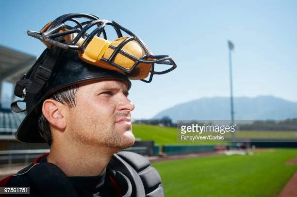 catcher at baseball diamond - baseball catcher stock pictures, royalty-free photos & images