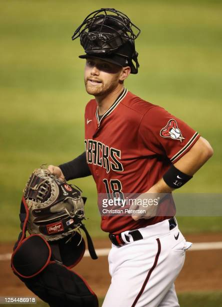 Catcher Carson Kelly of the Arizona Diamondbacks participates in summer workouts ahead of the abbreviated MLB season at Chase Field on July 05 2020...