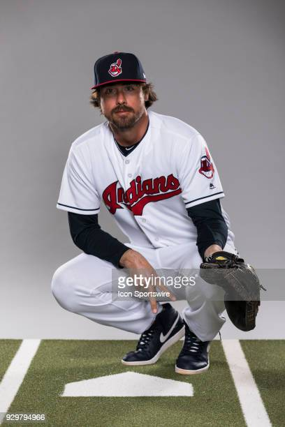 Catcher Jack Murphy poses for a photo during the Cleveland Indians photo day on Wednesday Feb 21 2018 at Goodyear Ballpark in Goodyear Ariz