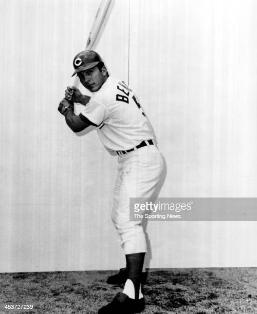 Catcher Johnny Bench of the Cincinnati Reds circa 1968 in Cincinnati Ohio