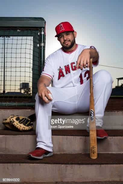 Catcher Juan Graterol poses for a portrait during the Los Angeles Angels Photo Day on Feb 22 2018 at Tempe Diablo Stadium in Tempe Ariz