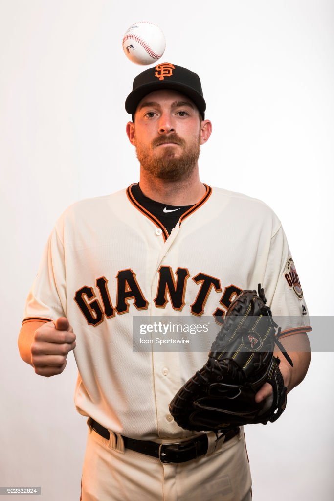 Catcher Justin O'Conner (72) poses for a photo during the San Francisco Giants photo day on Tuesday, Feb. 20, 2018 at Scottsdale Stadium in Scottsdale, Ariz.