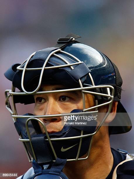 Catcher Kenji Johjima of the Seattle Mariners on July 31 2009 at Rangers Ballpark in Arlington Texas