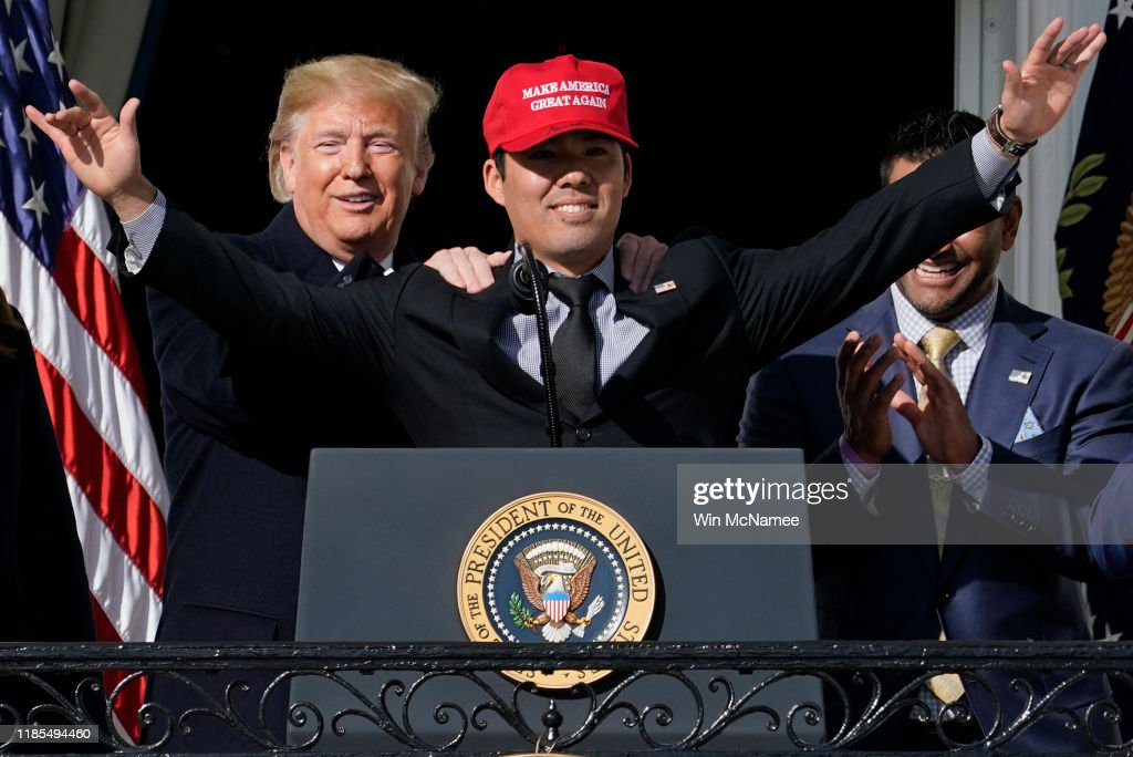 President Trump Hosts World Series Champions,  The Washington Nationals : News Photo