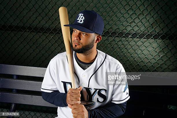Catcher Mayo Acosta of the Tampa Bay Rays poses for a photo during the Rays' photo day on February 25 2016 at Charlotte Sports Park in Port Charlotte...