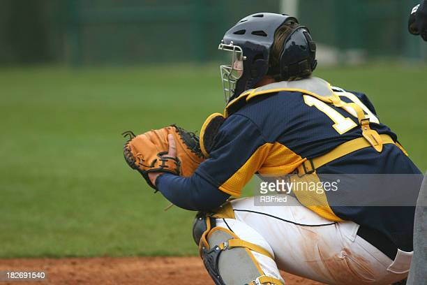 catcher - baseball catcher stock photos and pictures