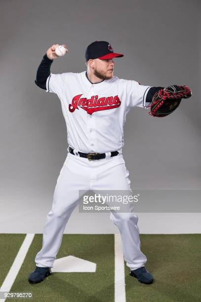 Catcher Roberto Perez poses for a photo during the Cleveland Indians photo day on Wednesday Feb 21 2018 at Goodyear Ballpark in Goodyear Ariz