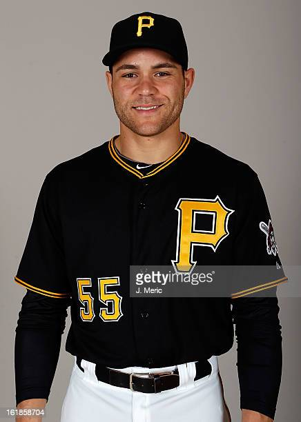 Catcher Russell Martin of the Pittsburgh Pirates poses for a photo during photo day at Pirate City on February 17 2013 in Bradenton Florida