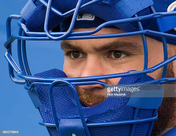 DUNEDIN FEBRUARY 23 Catcher Russell Martin Pitchers and catchers open the Toronto Blue Jays 2015 spring training session Photos from February 23 2015