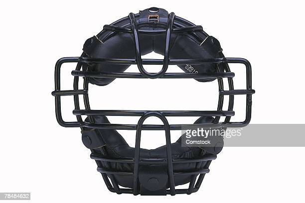 catcher's mask - baseball catcher stock photos and pictures