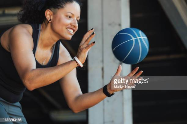 catching a medicine ball