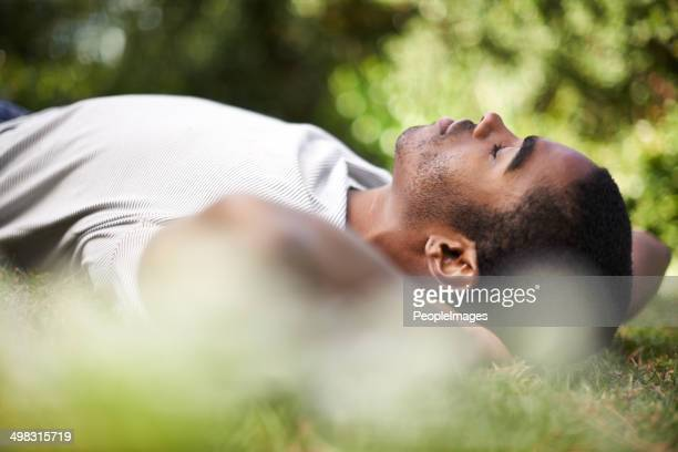 Catching a nap outdoors