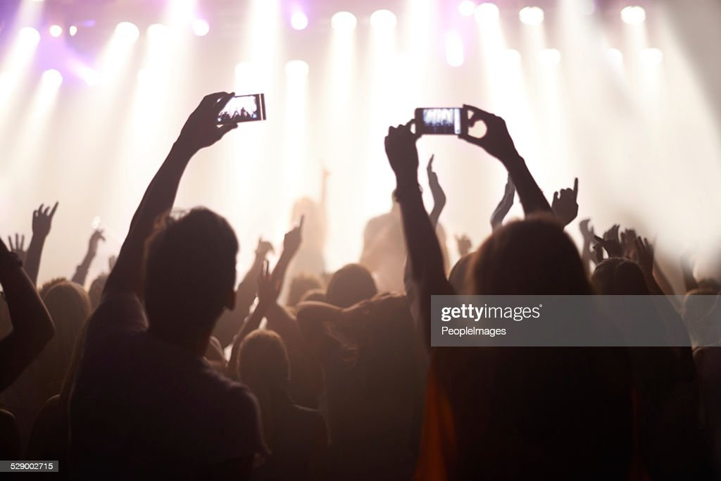 Catching the band in action : Stock Photo