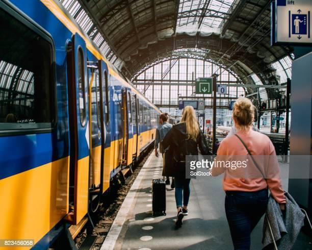 De trein In Amsterdam