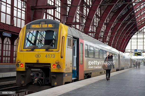 Catching the train in Antwerp