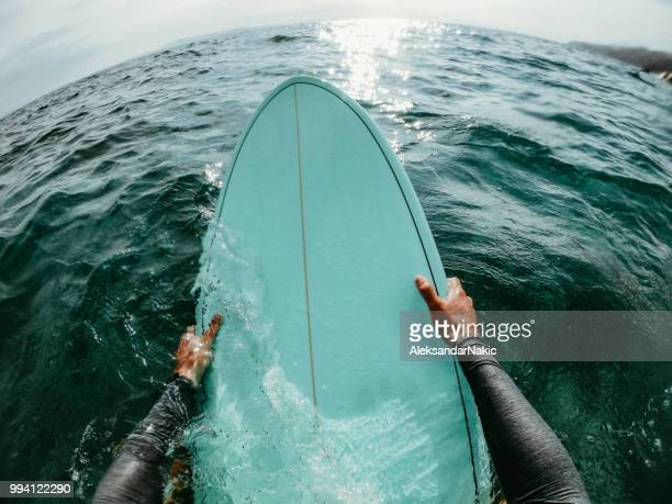 catching the waves - surf stock pictures, royalty-free photos & images