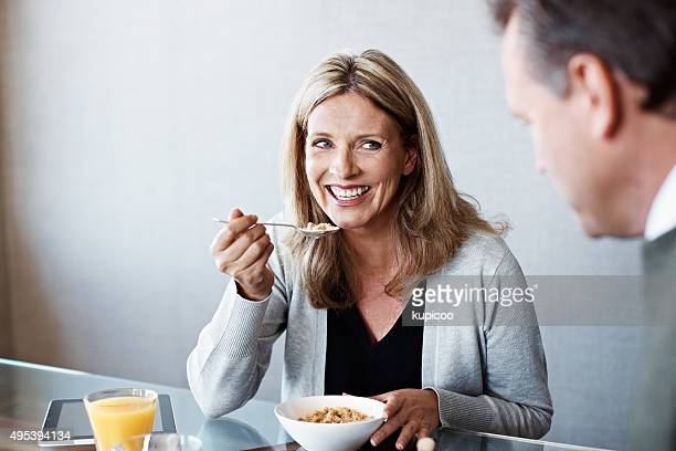Gespräch mit Frühstück